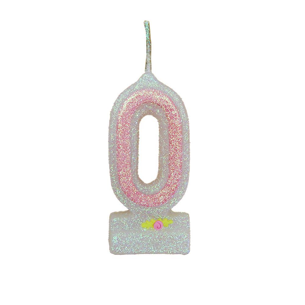 Vela de Aniversário Rosa Nº 0