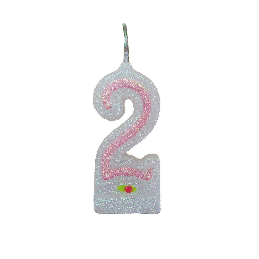 Vela de Aniversário Rosa Nº 2