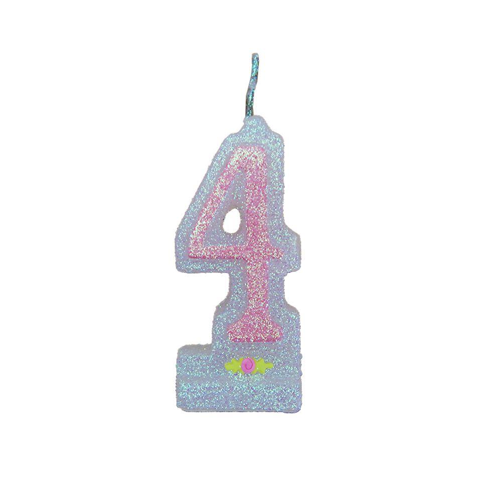 Vela de Aniversário Rosa Nº 4