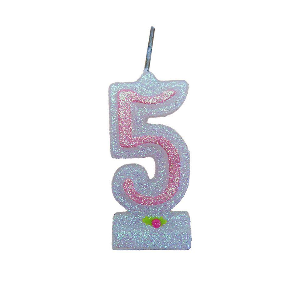 Vela de Aniversário Rosa Nº 5