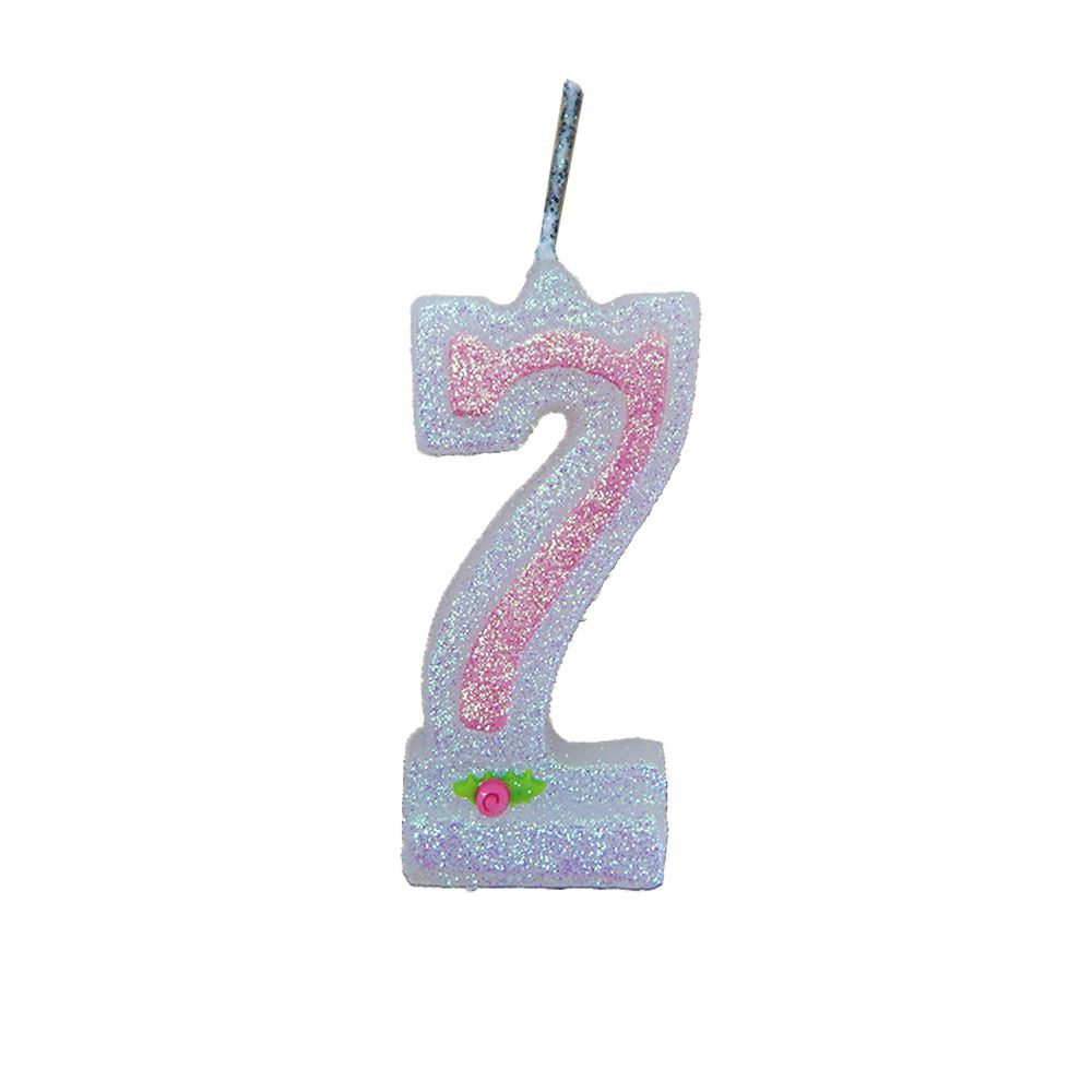 Vela de Aniversário Rosa Nº 7