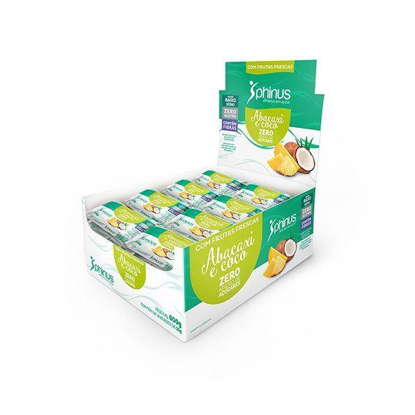 Abacaxi E Coco Zero Açúcar Phinus Contendo 24 Unidades