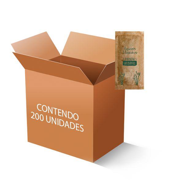 Açúcar Mascavo Paraíso Saúdavel C/200 Sachets De 5g - VÁLIDO ATÉ 30/04/2021