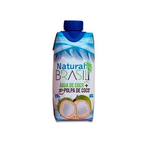 Água de Coco +18% Polpa de Coco Natural Brasil 330ml