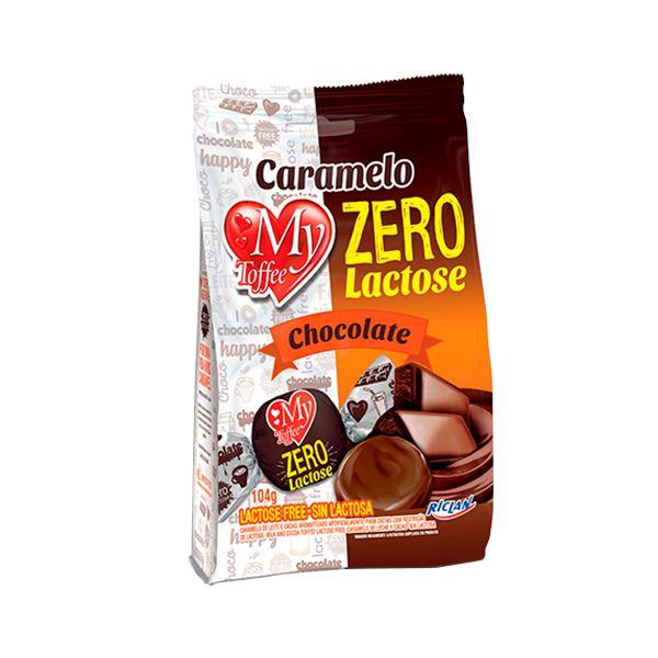 Bala Caramelo Zero Lactose Chocolate My Toffee Riclan 104g