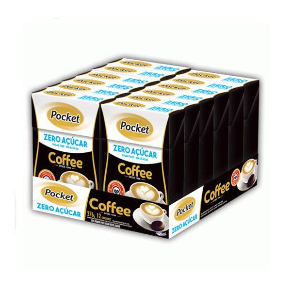 Bala Pocket Coffee Zero Açúcar Riclan Contendo 12 Caixinhas De 23g Cada