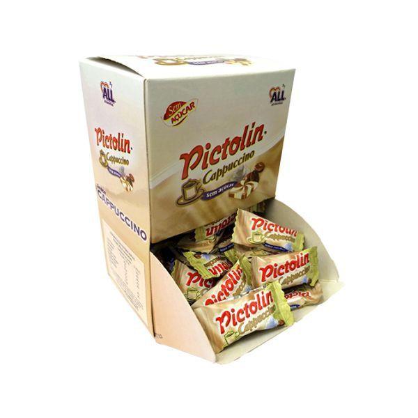 Bala Sem Açúcar Pictolin Capuccino Contendo 340g