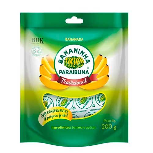 Bananada Açucarada Natural Paraibuna 200g