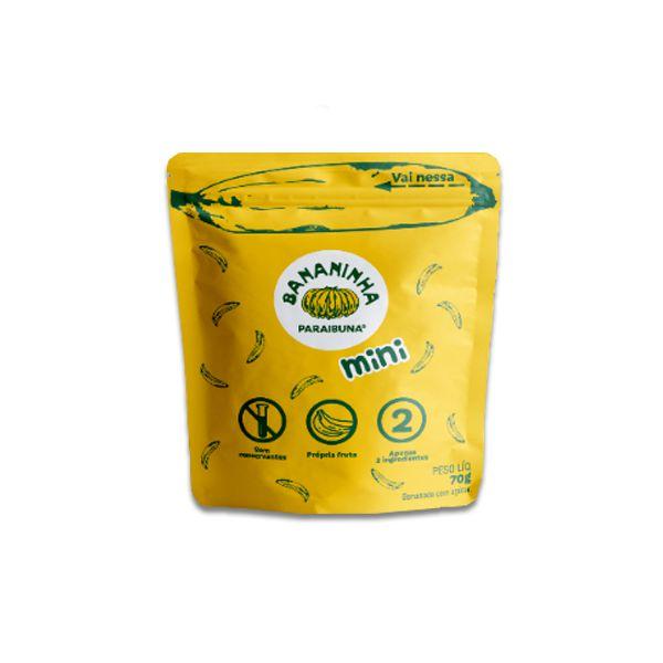 Bananinha Natural Mini Paraibuna com Açúcar 70g