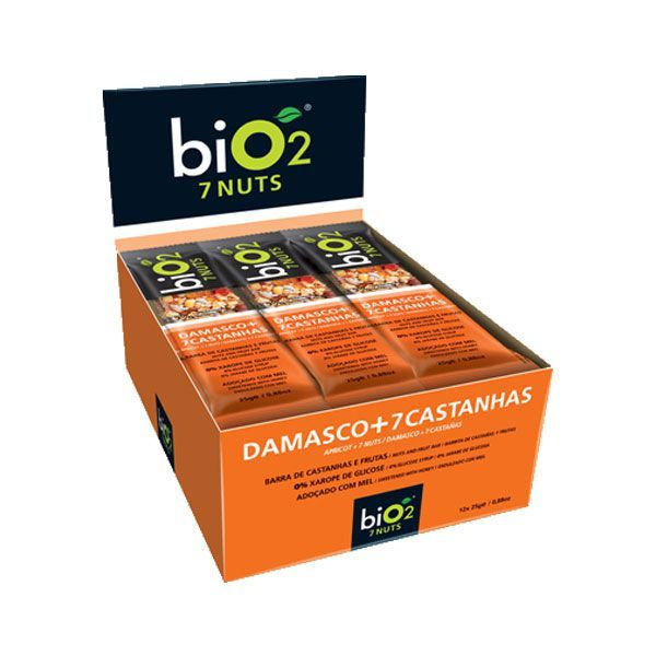 Barra de Cereal biO2 7nuts Damasco c/12 un
