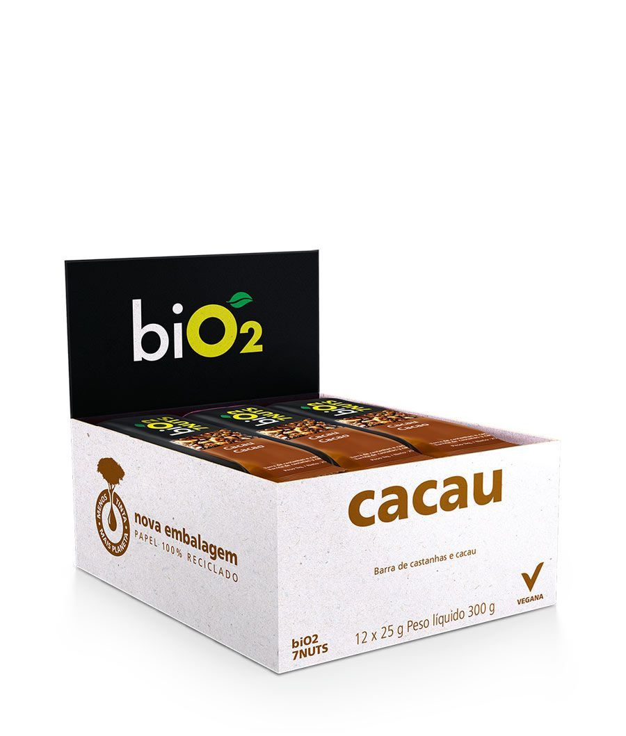 Barra De Cereal Bio2 7Nuts com Castanhas E Cacau c/12 un