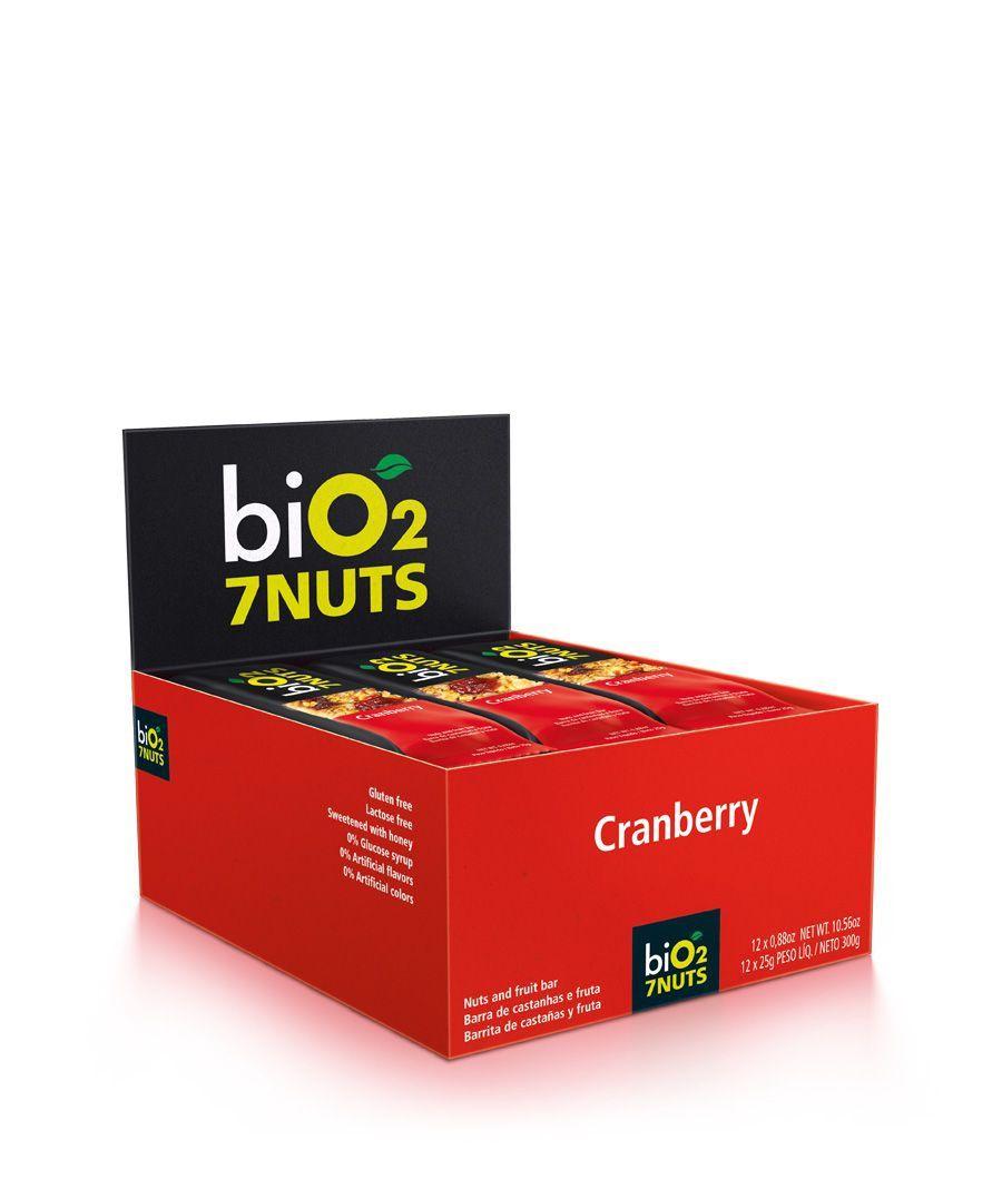 Barra De Cereal biO2 7nuts Cranberry c/12 un