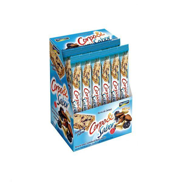 Barra De Cereal Montevergine Castanha Do Brasil E Ameixa 24/un