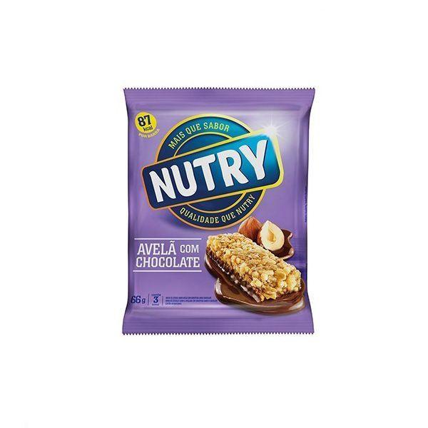 Barra De Cereal Nutry Avelã com Chocolate contendo 3 unidades