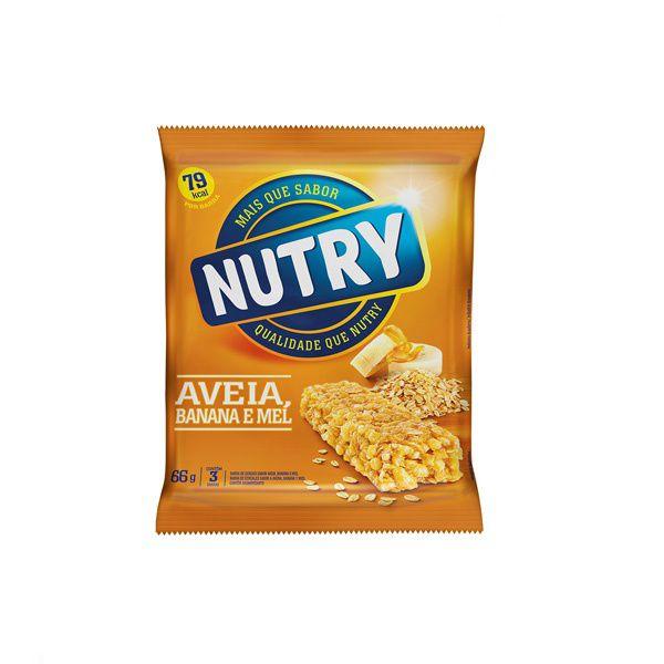 Barra De Cereal Nutry Banana, Aveia E Mel contendo 3 unidades