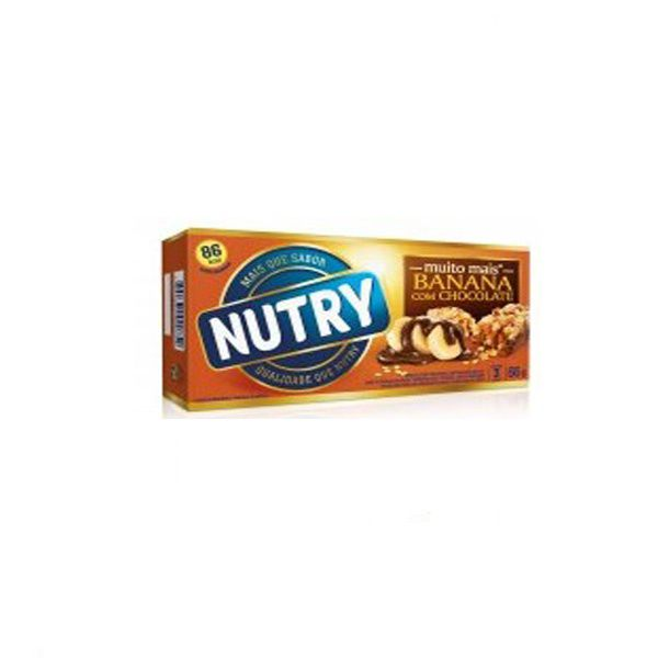 Barra De Cereal Nutry Banana com Chocolate contendo 3 unidades