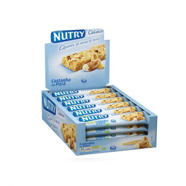 Barra De Cereal Nutry Castanha com 24 unidades