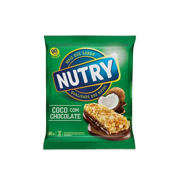 Barra De Cereal Nutry Coco com Chocolate contendo 3 unidades