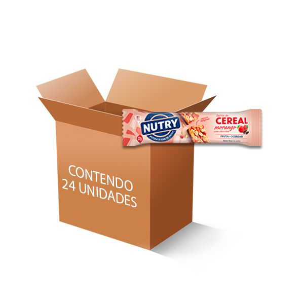 Barra De Cereal Nutry Morango com Chocolate 24 un