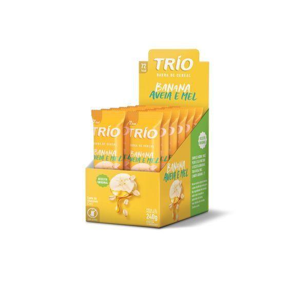 Barra De Cereal Trío Banana, Aveia E Mel contendo 12 unidades
