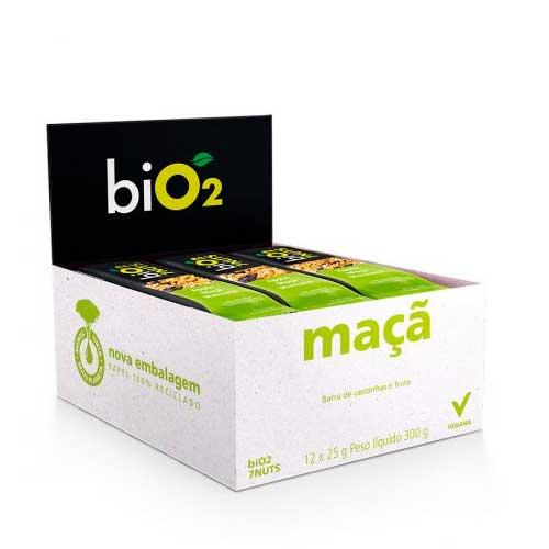 Barra De Cereal biO2 7nuts Maçã com 12 unidades de 25g cada