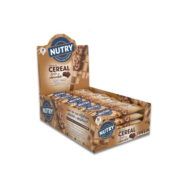 Barra De Cereal Nutry Bolo de Chocolate 24 un