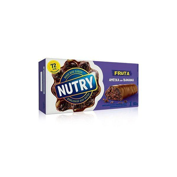 Barra De Cereal Nutry Ameixa Com 3 Unidades De 20g Cada