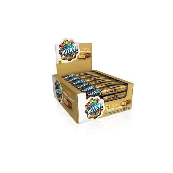 Barra De Cereal Nutry Amendoim Com Guaraná Com 24 Unidades De 20g Cada