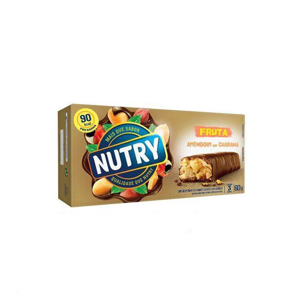 Barra De Cereal Nutry Amendoim com 3 Unidades