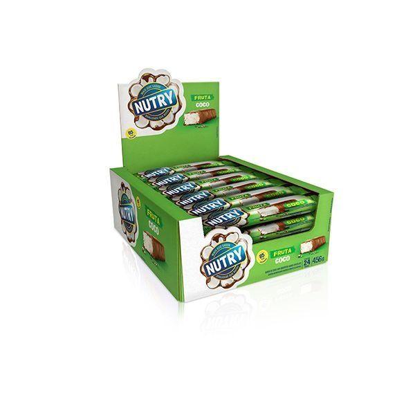 Barra De Cereal Nutry Coco Com 24 Unidades de 19g Cada