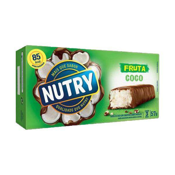Barra De Cereal Nutry Coco Com 3 Unidades De 19g Cada