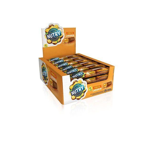 Barra De Cereal Nutry Laranja com 24 Unidades De 20g Cada