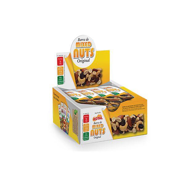 Barra De Mixed Nuts Original Agtal Contendo 12 Unidades De 30g Cada