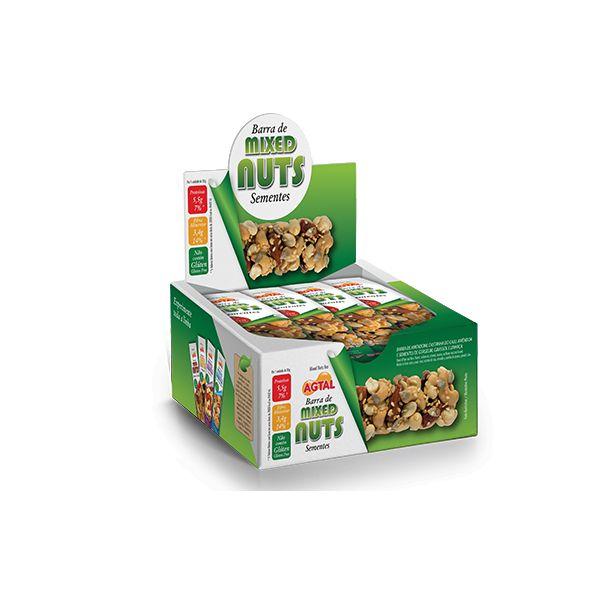 Barra De Mixed Nuts Sementes Agtal Contendo 12 Unidades De 30g Cada