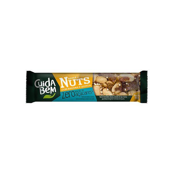 Barra de Nuts Cuida Bem Banana E Quinoa 25g