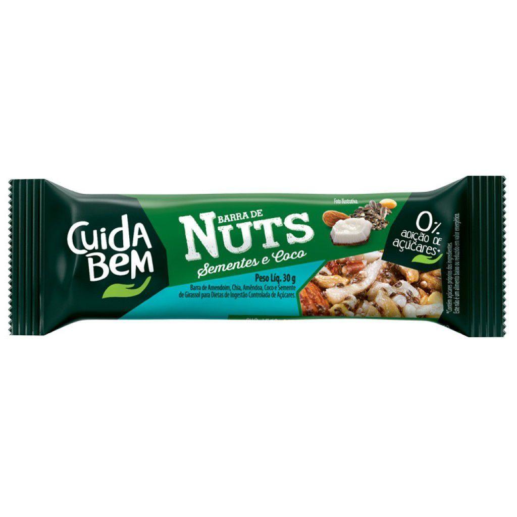 Barra de Nuts Cuida Bem Sementes e Coco 25g