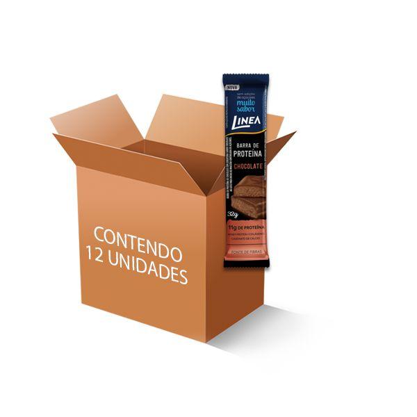 Barra de Proteína Sem Açúcar de Chocolate Linea c/12 un