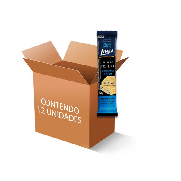 Barra de Proteína Sem Açúcar Cookies´N Cream Linea c/12 un