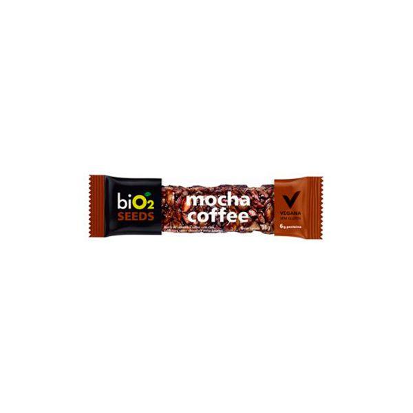 Barra De Sementes Café Coberto Com Chocolate Meio Amargo Bio2 Seeds Mocha Coffee Unidade