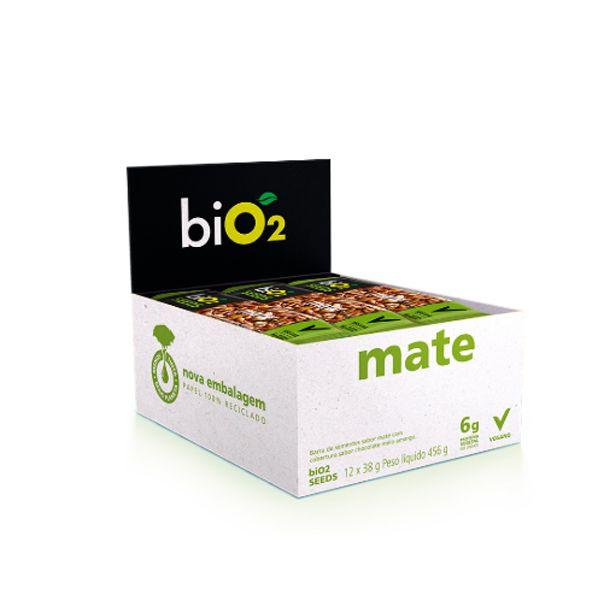 Barra De Sementes Mate Coberto Com Chocolate Meio Amargo Bio2 Seeds Contendo 12 Unidades