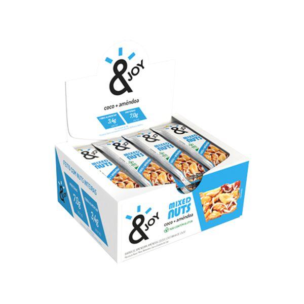 Barra Mixed Nuts Coco + Amêndoas &joy Contendo 12 Unidades De 30g Cada