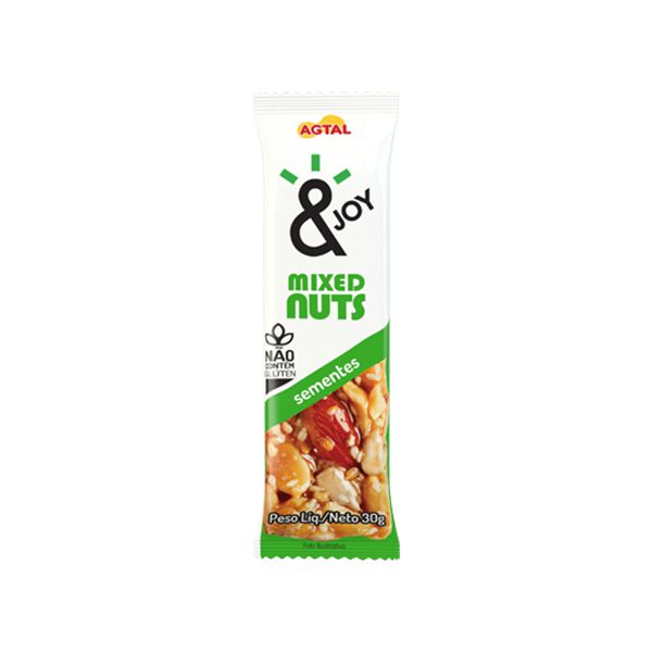 Barra Mixed Nuts Sementes &joy 30g