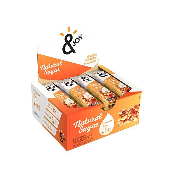 Barra Natural Sugar &joy Gengibre Com Toque De Laranja Contendo 12 Unidades De 30g Cada