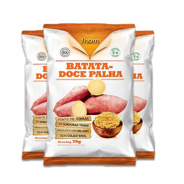 Batata-doce Palha Fhom contendo 3 unidades com 70g cada