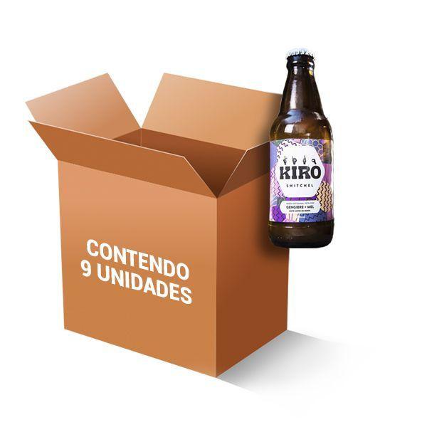 Bebida Kiro Switchel Gengibre, Mel E Vinagre Maçã Contendo 9 Garrafas De 300ml Cada