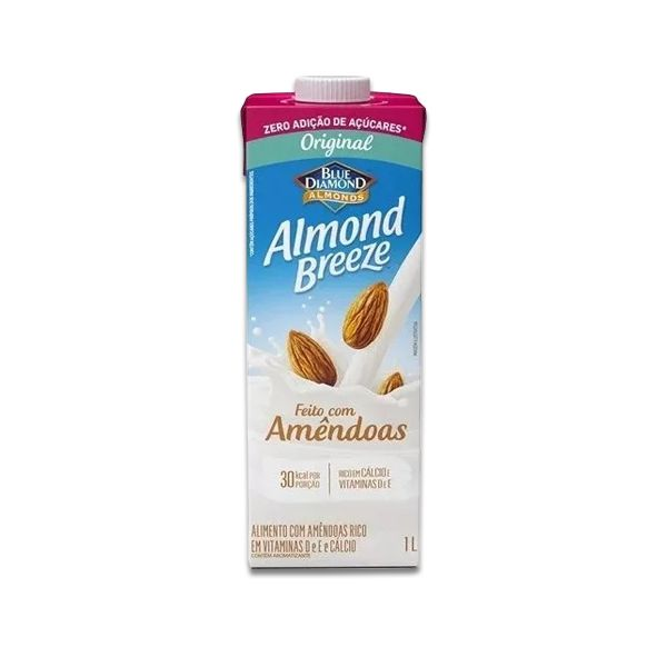 Bebida Vegetal de Amêndoas Original ZERO AÇÚCAR Almond Breeze 1l