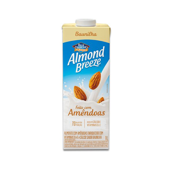 Bebida Vegetal de Amêndoas sabor Baunilha Almond Breeze 1l