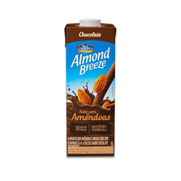 Bebida Vegetal de Amêndoas sabor Chocolate Almond Breeze 1l