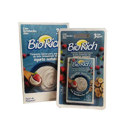 Bio Rich Fermento Lácteo Cartela Contendo 3 Sachets De 400mg Cada