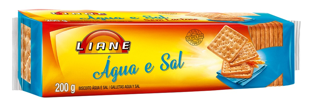 Biscoito Água E Sal Sem Lactose Liane 200g